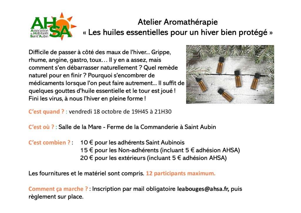 thumbnail of Atelier aromathérapie – préparation hiver AHSA