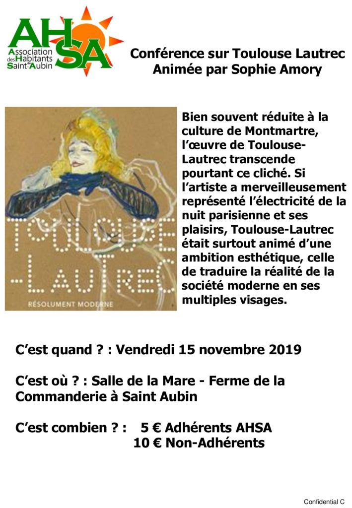 thumbnail of Conférence Toulouse Lautrec