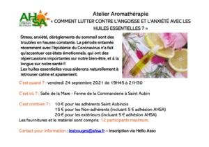 thumbnail of Atelier aromatherapie – Stress et Anxiete 2021-2022